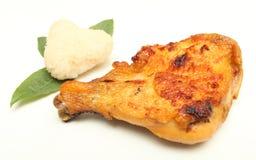 Roast chicken glutinous rice close-up Stock Photos