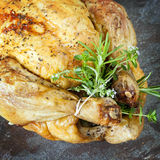 Roast Chicken with Herbs Stock Images