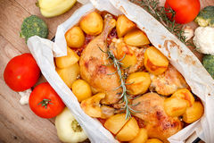 Roast chicken - homemade roasted chicken Stock Images