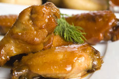 Roast chicken with honey Royalty Free Stock Photography