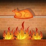 Roast chicken. Illustration of roast chicken shop Stock Image