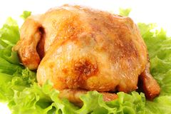 Roast Chicken,isolated. Stock Photo