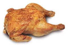Roast chicken. Isolated on White Stock Photo