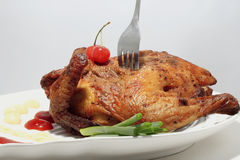 Roast chicken  Royalty Free Stock Images