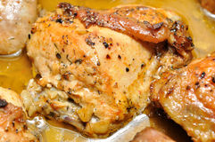 Roast chicken leg Stock Photography