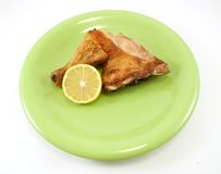 Roast chicken leg Royalty Free Stock Photo