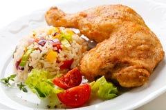 Roast chicken leg Royalty Free Stock Images