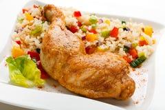 Roast chicken leg Stock Photo