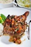 Roast chicken leg Stock Image