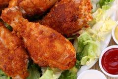 Roast chicken legs Stock Photos