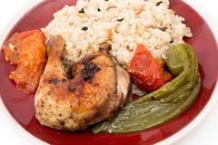 Roast chicken mediterranean style Stock Photography