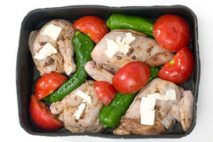 Roast chicken mediterranean style Royalty Free Stock Photo