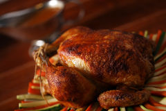 Roast Chicken On Vegetable Royalty Free Stock Image