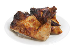 Roast Chicken on Plate Royalty Free Stock Photos