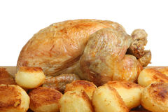 Roast Chicken & Potatoes Stock Photography