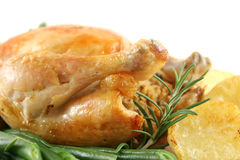 Roast Chicken Profile Royalty Free Stock Photos