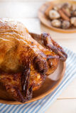 Roast chicken ready to eat Stock Image