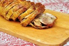 Roast chicken roll royalty free stock photos