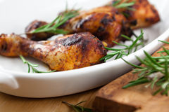Roast chicken with rosemary Stock Photography