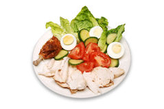 Roast chicken salad Royalty Free Stock Photography