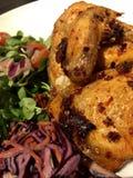 Roast Chicken and Salad Stock Photos