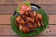Roast chicken. A Roast chicken on the table Royalty Free Stock Image