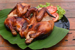 Roast chicken. A Roast chicken on the table Stock Images