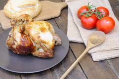 Roast chicken. Royalty Free Stock Photo
