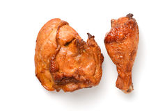 Roast chicken. Thigh and drumstick stock photo