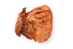 Roast chicken thigh Stock Photos