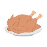 Roast chicken. Vector Illustration of Roast chicken Stock Photography