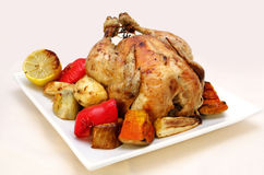 Roast Chicken and Vegetables Stock Photography