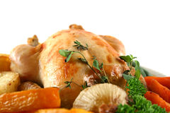 Roast Chicken And Vegetables Royalty Free Stock Photography