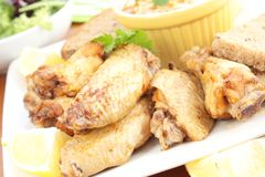 Roast chicken wings Royalty Free Stock Photos