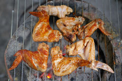 Roast chicken wings meat Royalty Free Stock Photos