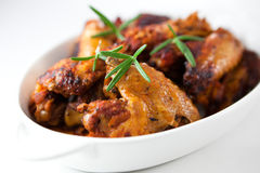 Roast chicken wings  with rosemary Royalty Free Stock Images
