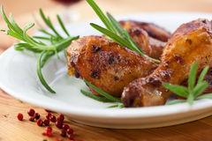 Roast Chicken With Fresh Rosemary Royalty Free Stock Images