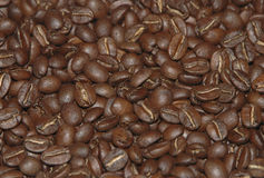 ROAST COFFE BEANS. A closeup of bolivian roast coffee beans Stock Photo