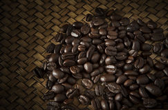 Roast coffee bean on wood Stock Photo