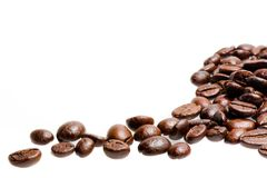 Roast coffee beans Stock Images