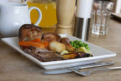 Roast dinner Stock Photo