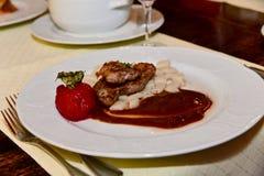 Roast duck breast gourmet cuisine Stock Photo