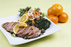 Roast Duck Breast with Orange sauce Royalty Free Stock Images