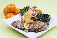 Roast Duck Breast with Orange sauce Royalty Free Stock Photography