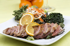 Roast Duck Breast with Orange sauce Stock Images
