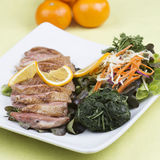 Roast Duck Breast with Orange sauce Royalty Free Stock Image
