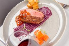 Roast duck breast Stock Image