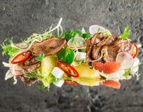 Roast duck breast salad Stock Photo