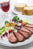 Roast duck breast with vegetables Royalty Free Stock Images