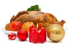 Roast duck.Christmas dinner. Stock Photos